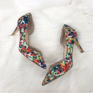 {Just Fab} Floral Patterned High Heels